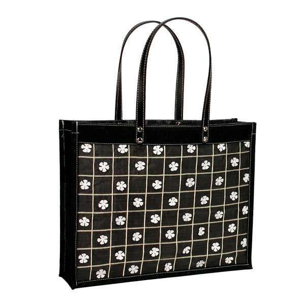 fancy jute embroidered shopping bag